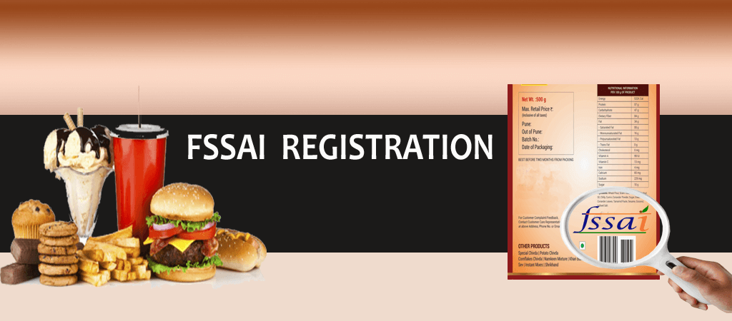 Fast food placed on a table and a menu card with FSSAI logo representing the Food License.